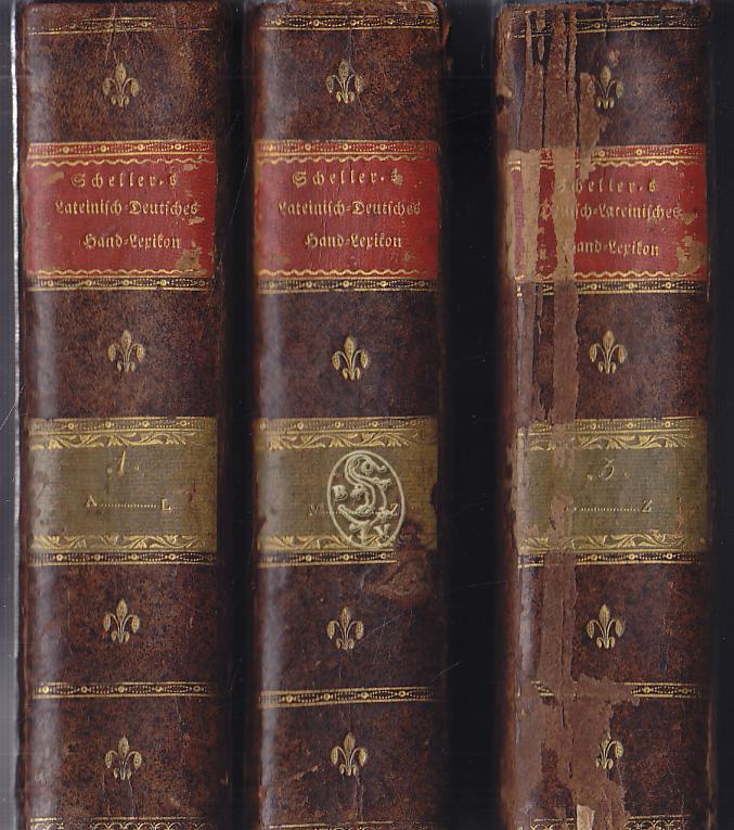 SCHELLER-Lateinisch-deutsches-und-1818
